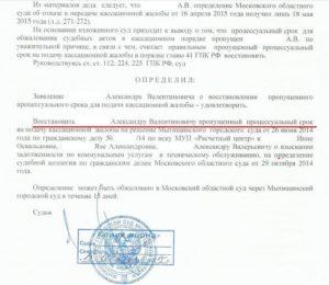 Как пишется жалоба председателю ВС РФ на отказ в передаче кассационной жалобы